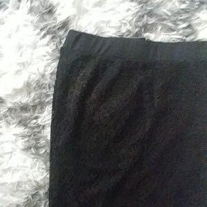 Black lace pencil skirt 2
